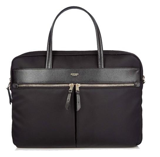 """Knomo HANOVER Slim Briefcase 14"""", černá taška"""