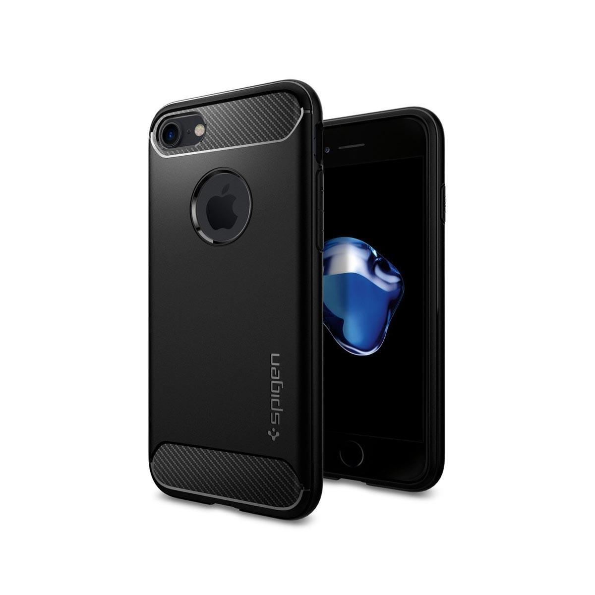 Kryt na iPhone 7 Spigen Rugged Armor - černý