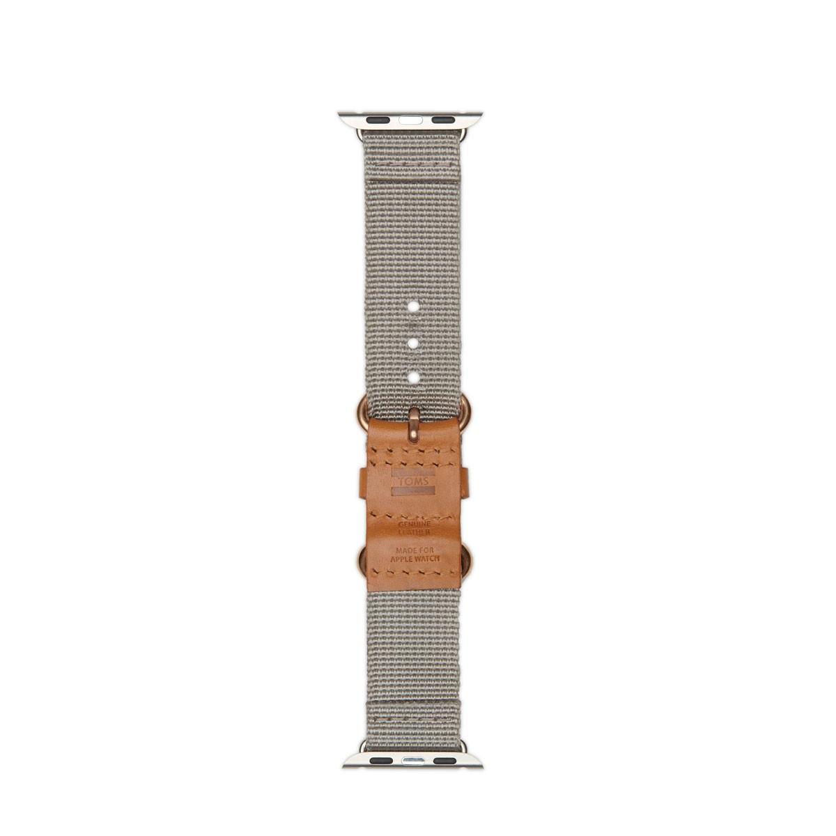 TOMS Utility, tkaný řemínek pro 38mm Apple Watch - hnědá