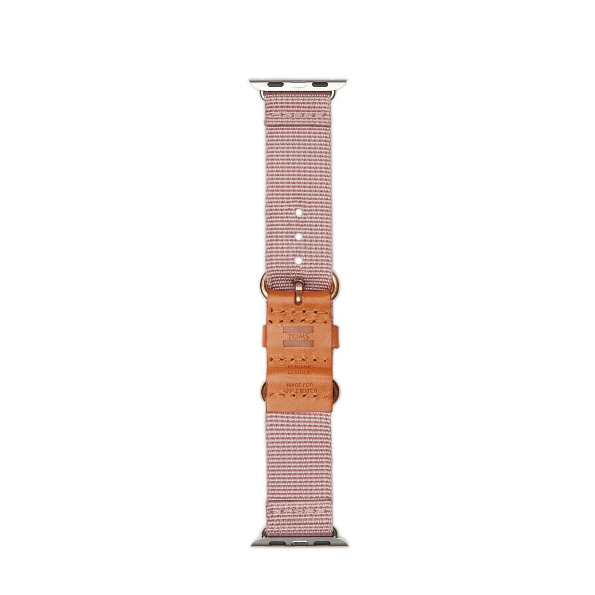 TOMS Utility, tkaný řemínek pro 38mm Apple Watch - růžový