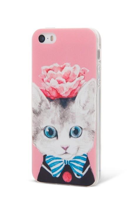 Epico TPU kryt pro iPhone 5/5S CAT&ROSES
