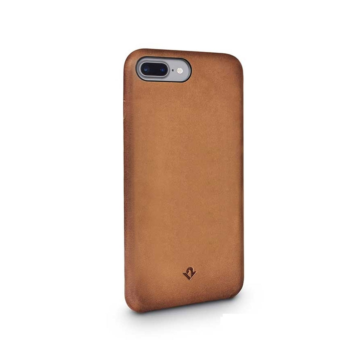 TwelveSouth Relaxed Leather Clip for iPhone 7 Plus - Cognac