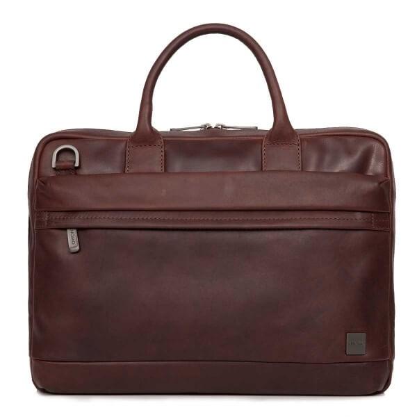"Knomo FOSTER, kožená taška pro MacBook 15"" - hnědá"