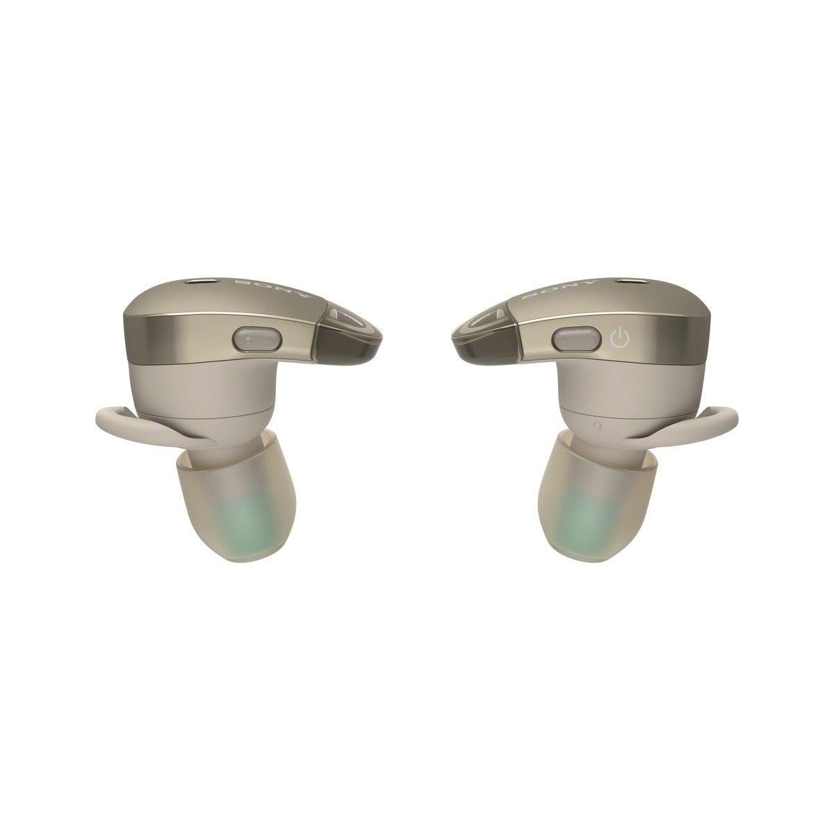 Sony WF-1000X, Bluetooth bezdrátová samostatná, nespojená sluchátka do uší s ANC, béžová