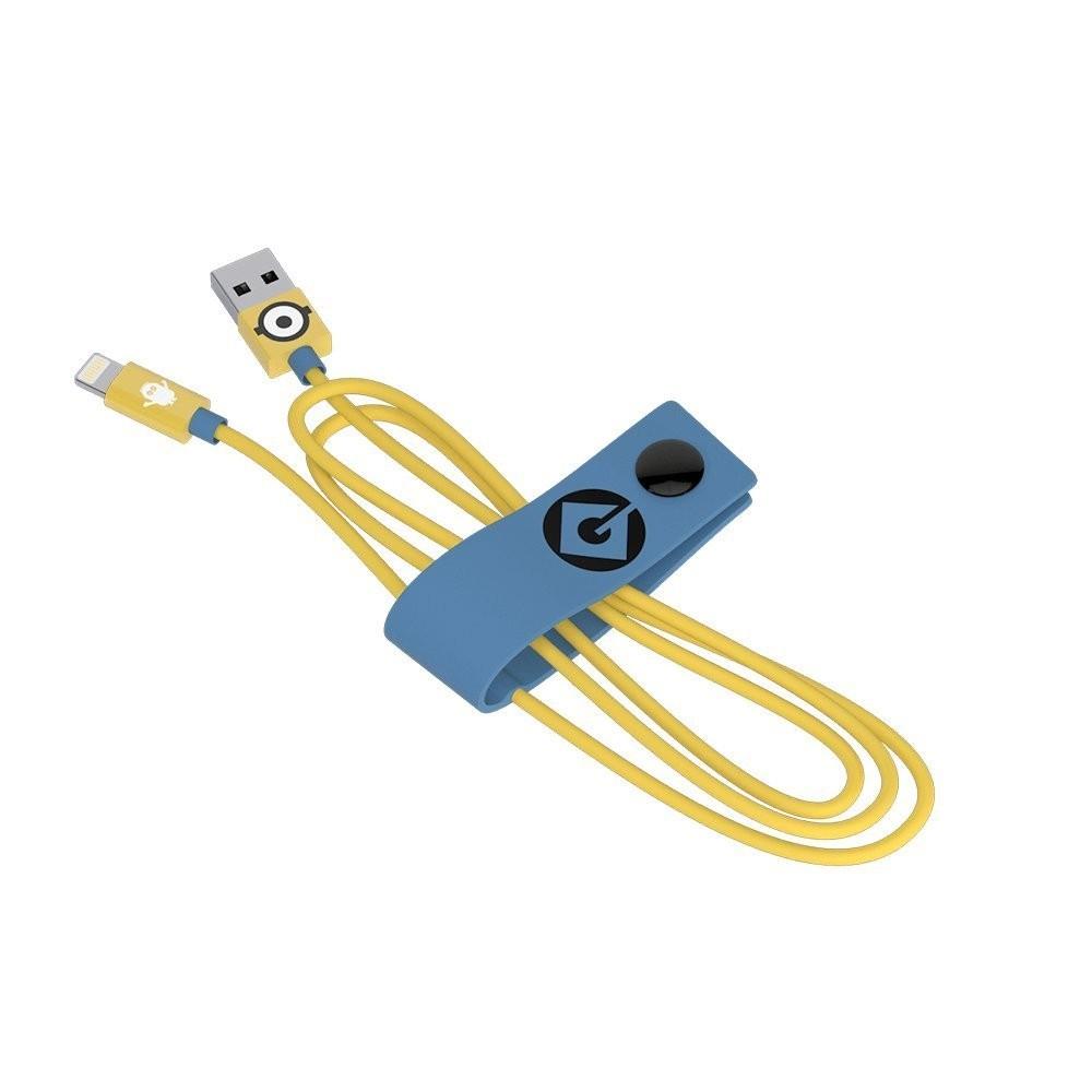 Tribe Minions Carl, odolný Lightning kabel (120cm) - žlutý