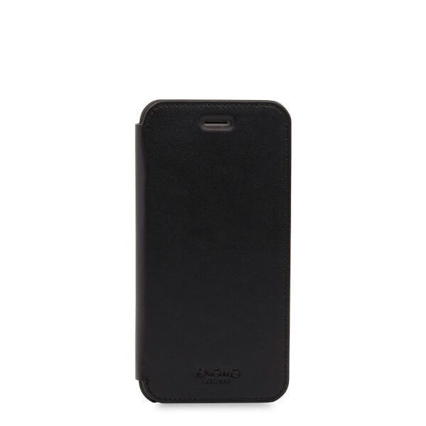 Knomo Leather Folio, kožené pouzdro pro iPhone 7 - černé