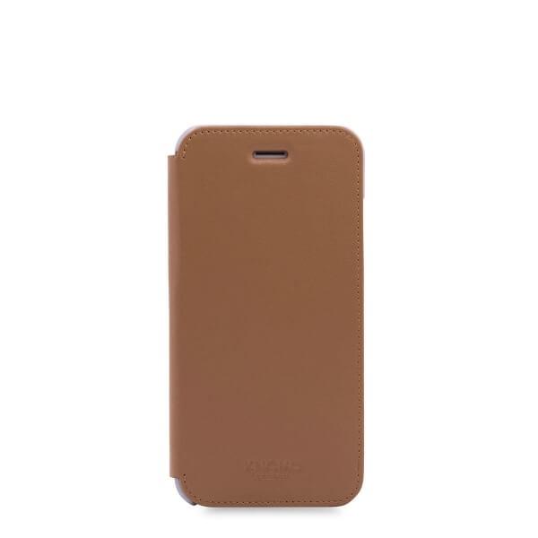 Knomo Leather Folio, kožené pouzdro pro iPhone 7 - karamelové