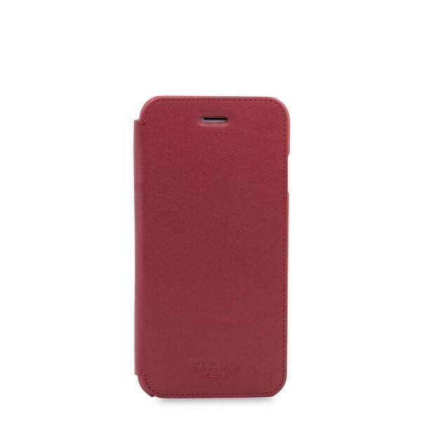 Knomo Leather Folio, kožené pouzdro pro iPhone 7 - červené