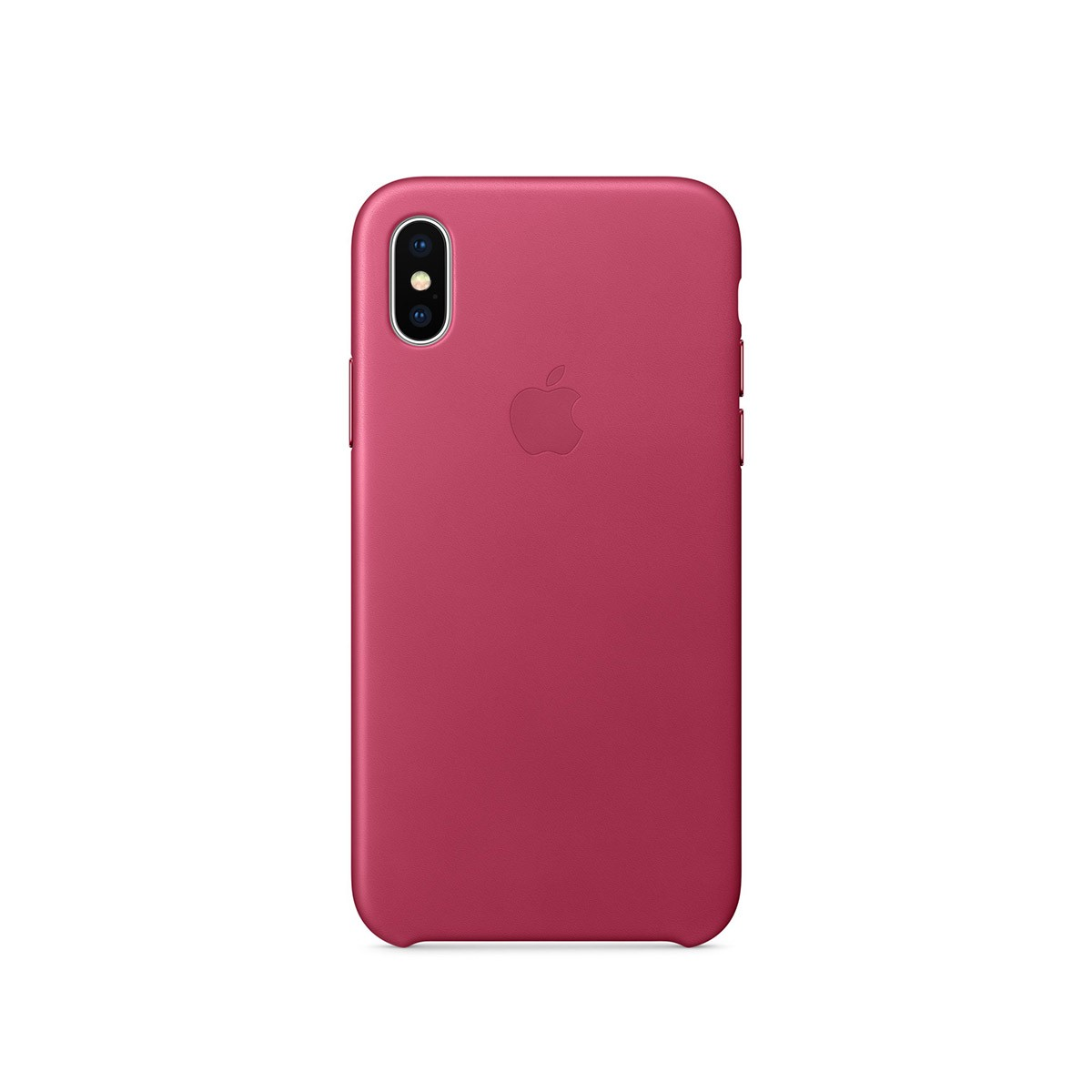 Apple kožený kryt na iPhone X – fuchsiový