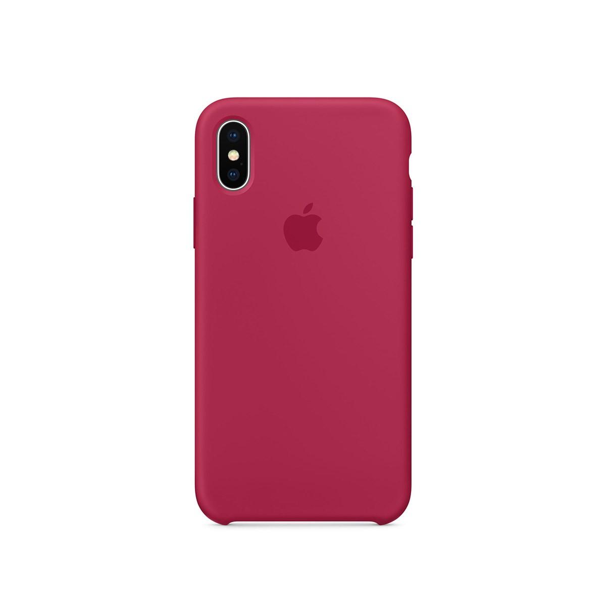 Apple silikonový kryt na iPhone X – vínový