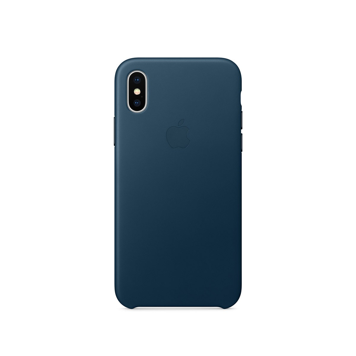 Apple kožený kryt na iPhone X – vesmírně modrý