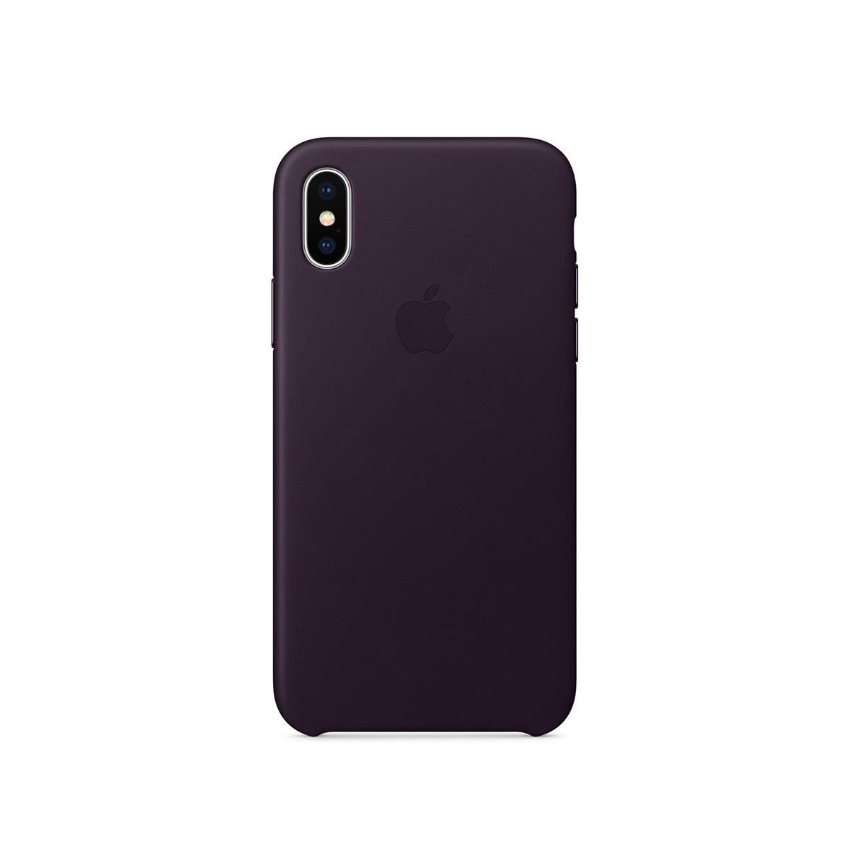 Apple kožený kryt na iPhone X – lilkově fialový