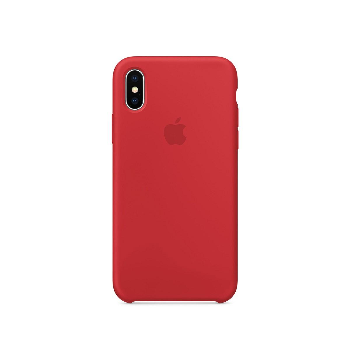 Apple silikonový kryt na iPhone X – (PRODUCT)RED