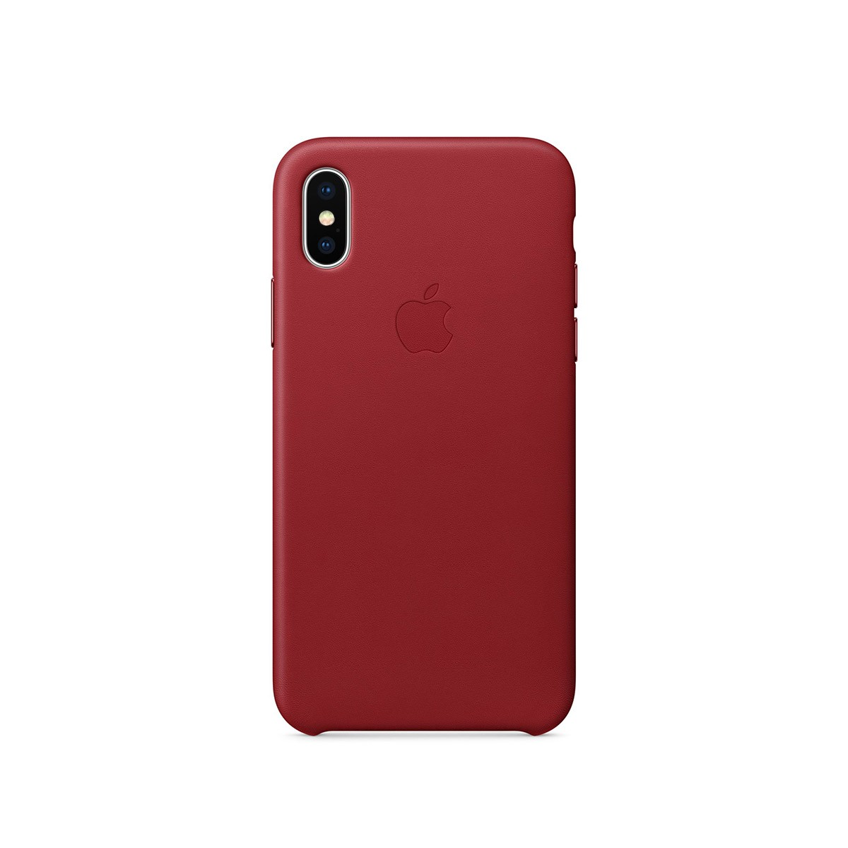 Apple kožený kryt na iPhone X – (PRODUCT)RED