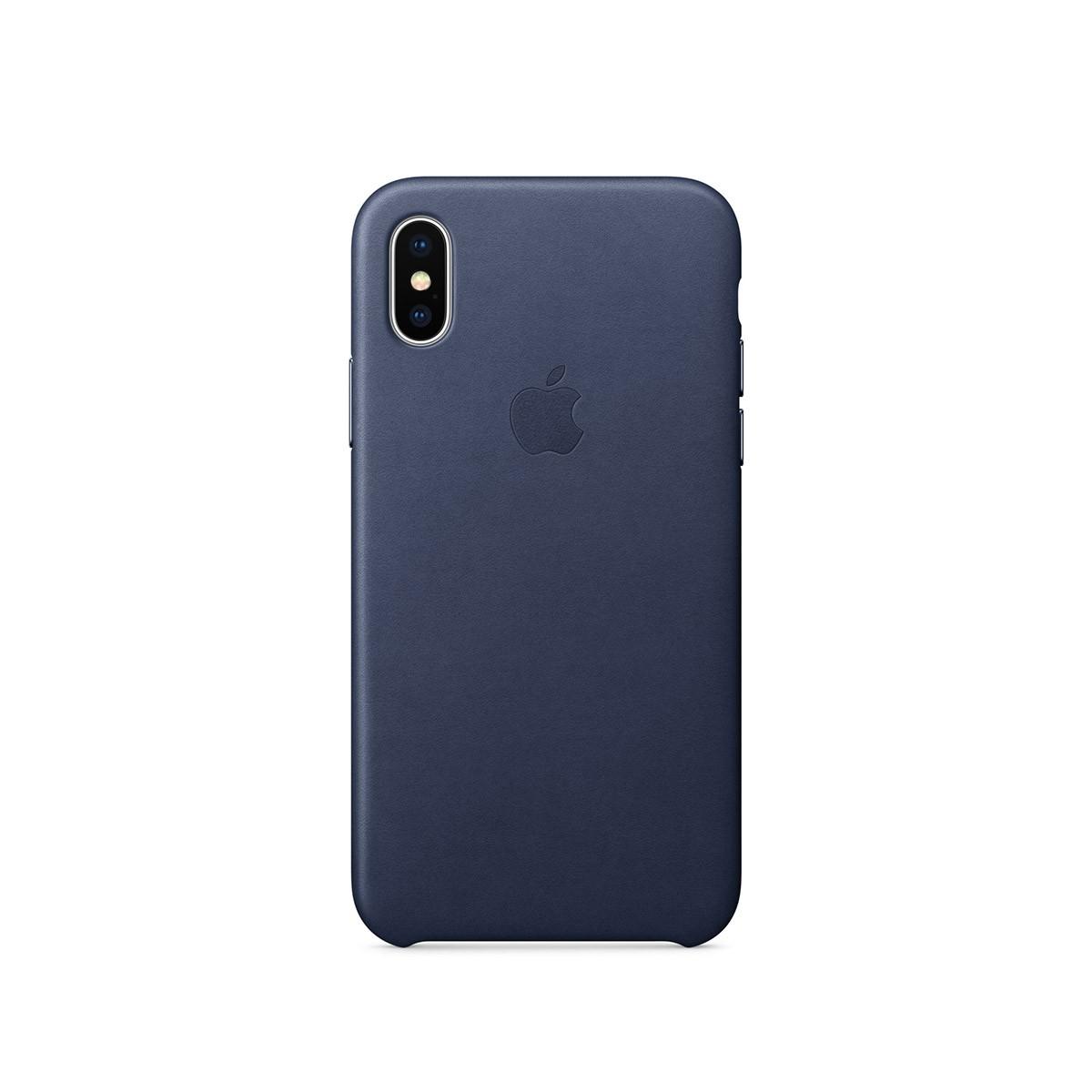 Apple kožený kryt na iPhone X – půlnočně modrý