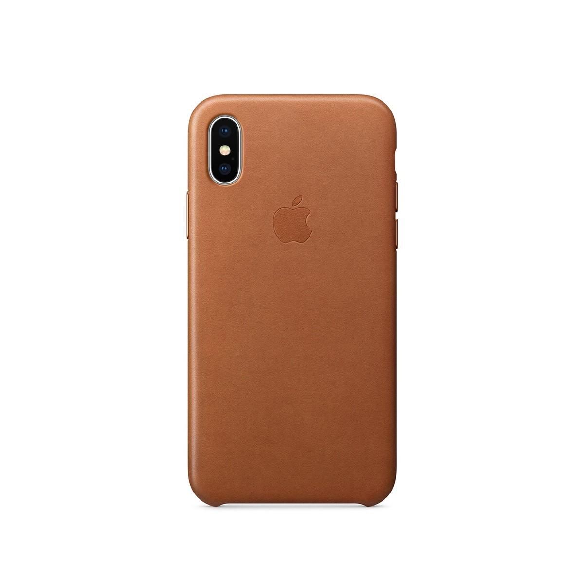 Apple kožený kryt na iPhone X – sedlově hnědý