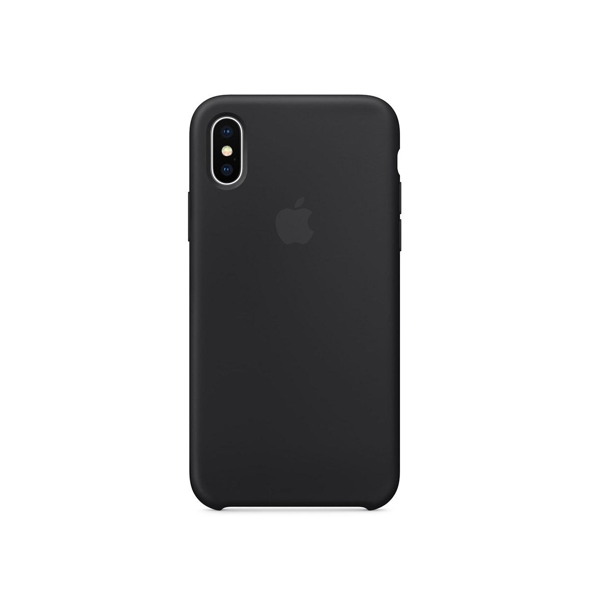 Apple silikonový kryt na iPhone X – černý