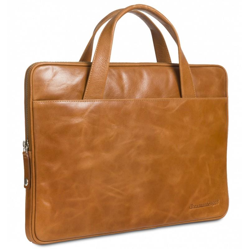 """dBramante 1928 kožená taška Silkeborg pro MacBook 15"""" - tan"""