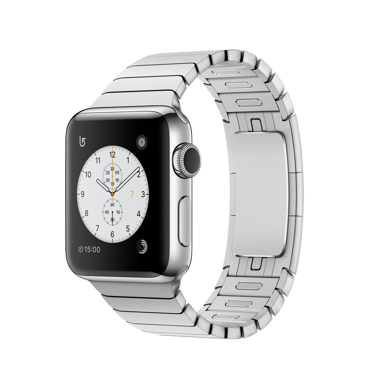 Apple Watch Series 2 - 38mm pouzdro z nerezové oceli – článkový tah