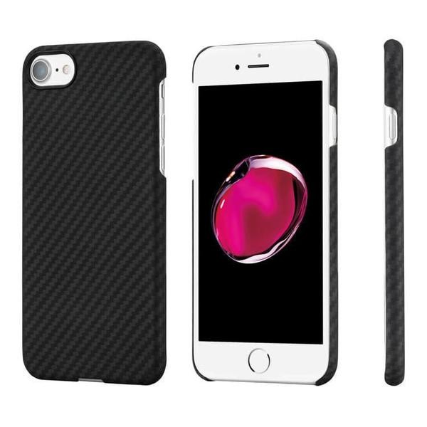 Pitaka Aramid ochranný kryt pro iPhone 7 - černý/šedý