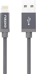 Odolný textilní kabel s Lightning konektorem - Odzu, vesmírně šedý