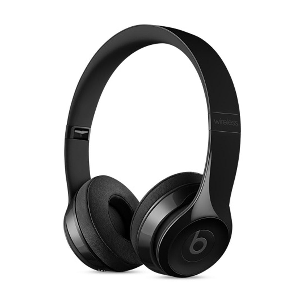 Sluchátka Beats Solo3 Wireless na uši – leskle černá mnen2zm/a