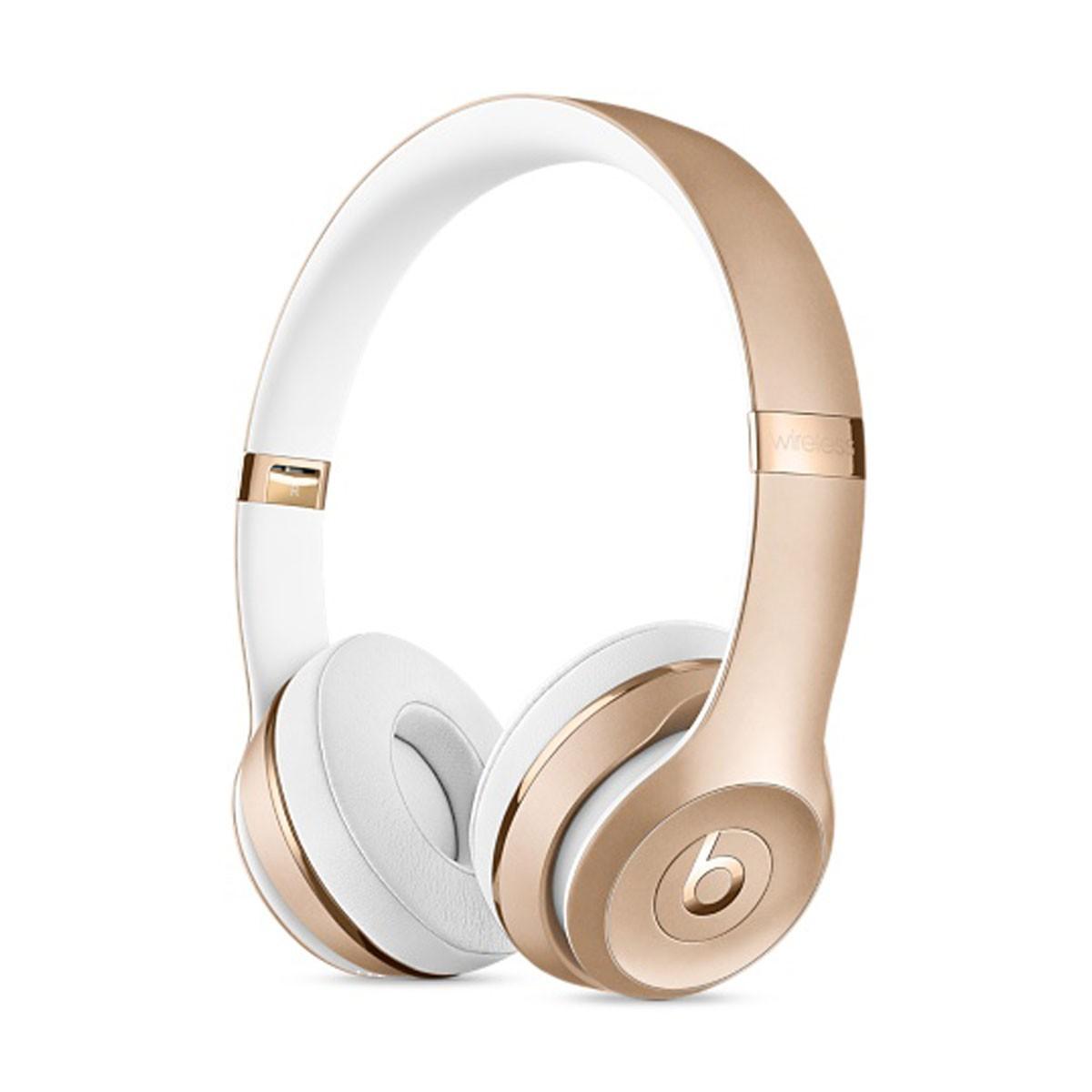 Sluchátka Beats Solo3 Wireless na uši – zlatá mner2zm/a