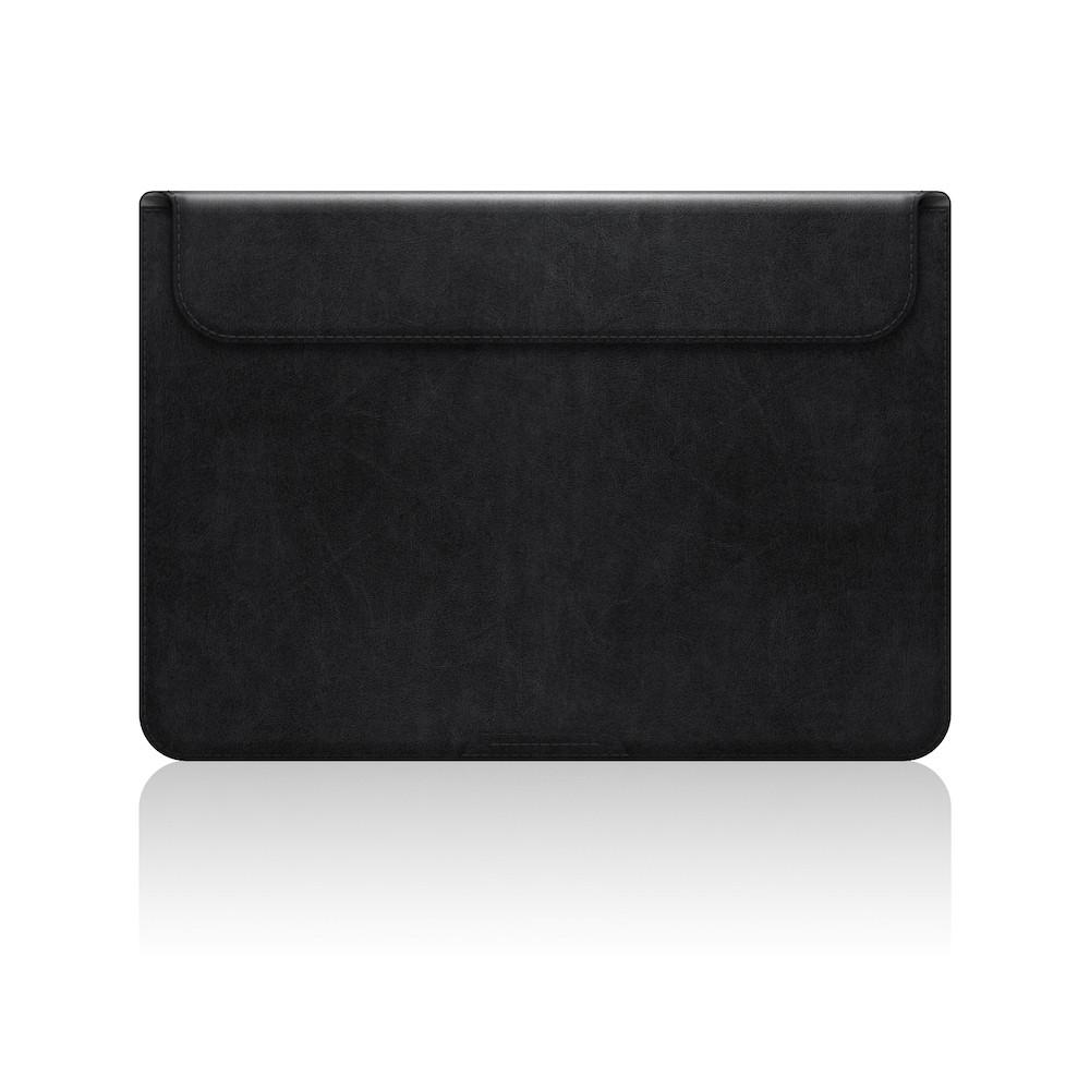 "SLG Design - D5 CAL, černé kožené pouzdro pro Macbook 12"""