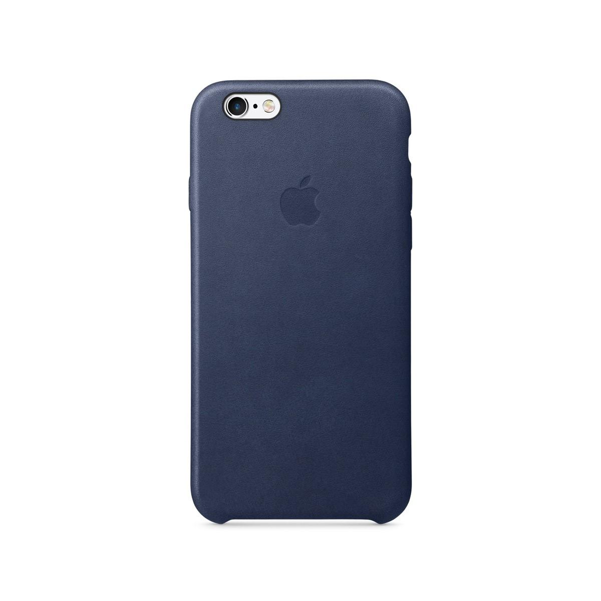 Apple kožený kryt na iPhone 6s - půlnočně modrý