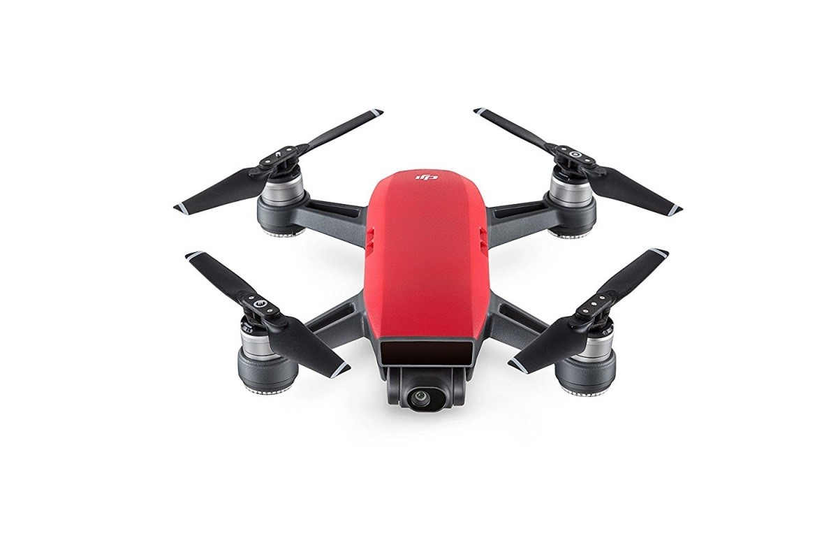 DJI Spark Fly More Combo, inteligentní dron v balení s vysílačem  - červený