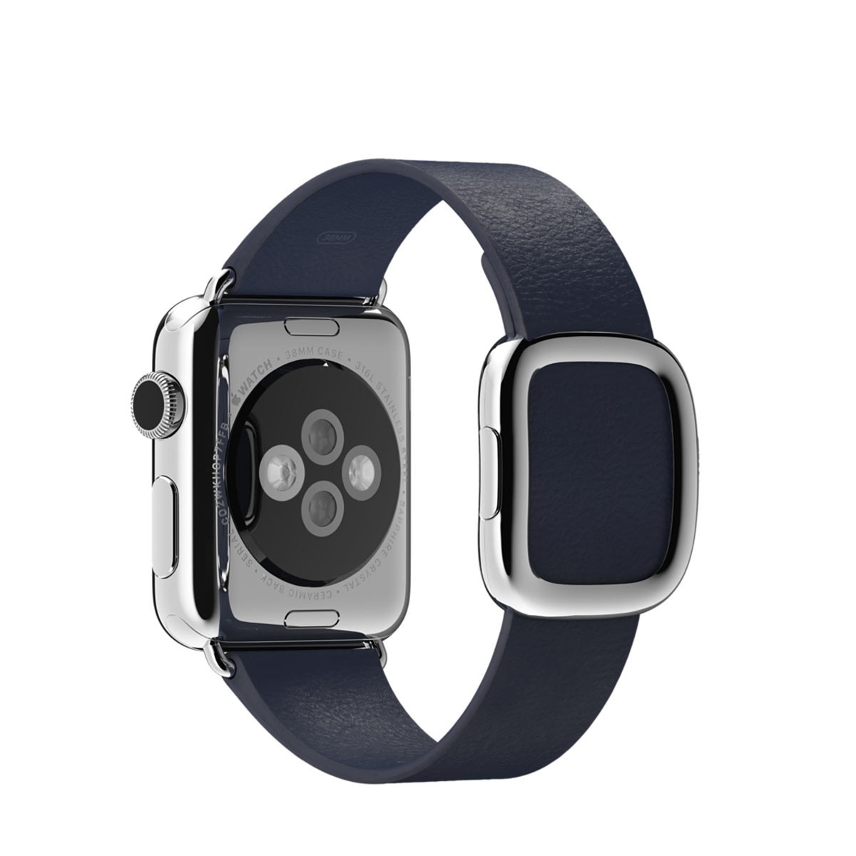 Apple 38mm půlnočně modrý řemínek s moderní přezkou – střední