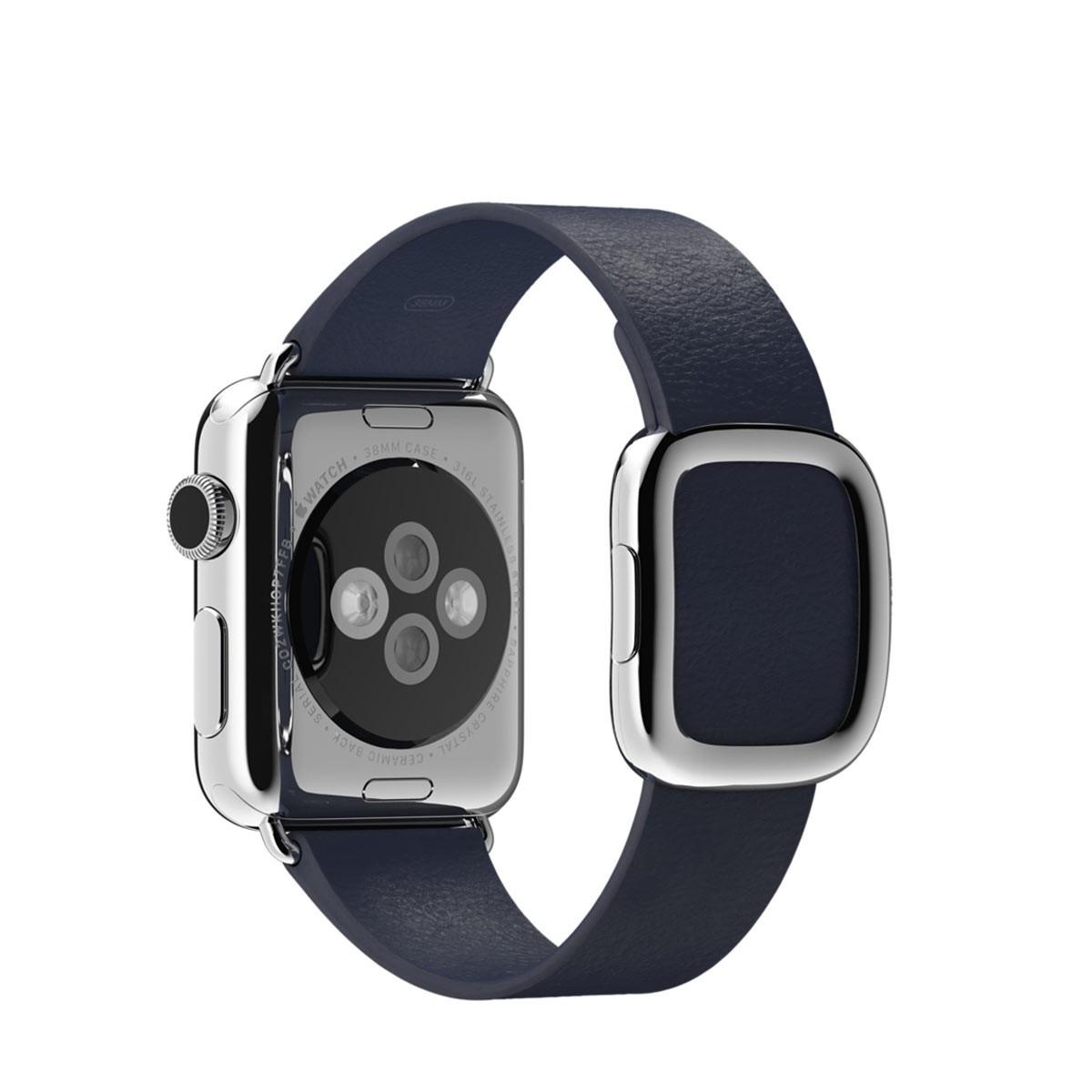 Apple 38mm půlnočně modrý řemínek s moderní přezkou – velký