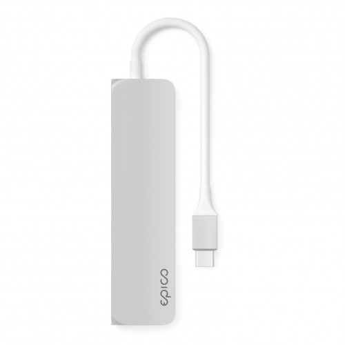 USB-C Hub adaptér EPICO Slim - stříbrný