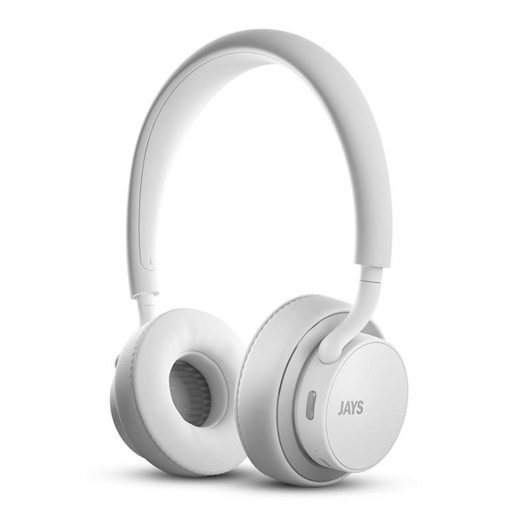 u-JAYS bílo stříbrná bezdrátová sluchátka