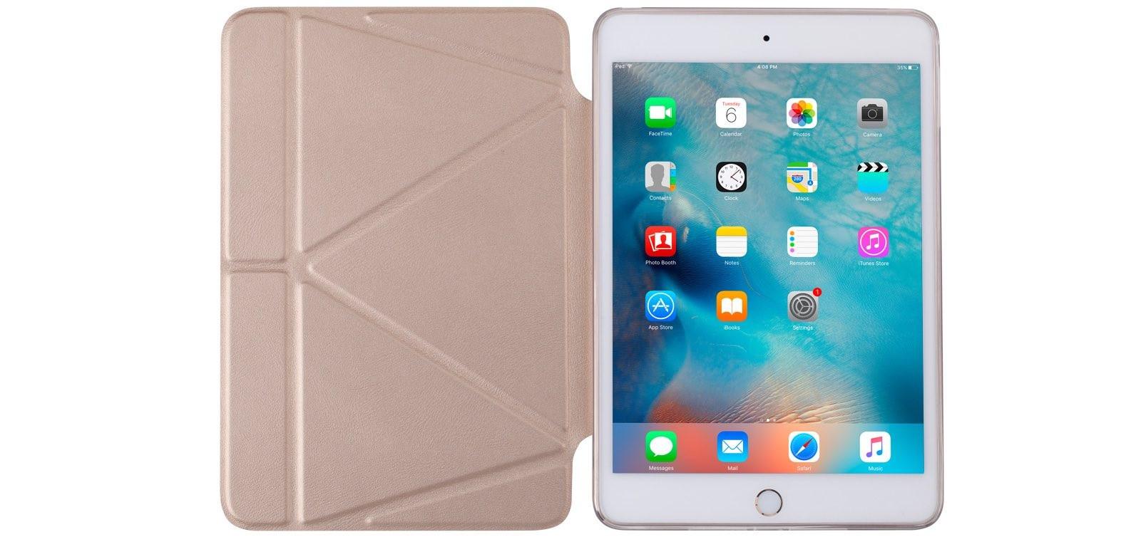 Momax Smartcase, kryt pro iPad mini 4 - zlatý