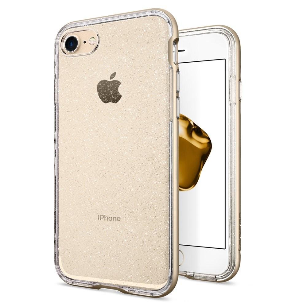Spigen Neo Hybrid Crystal Glitter - kryt pro iPhone 7 - zlatý s třpytkami/průhledný