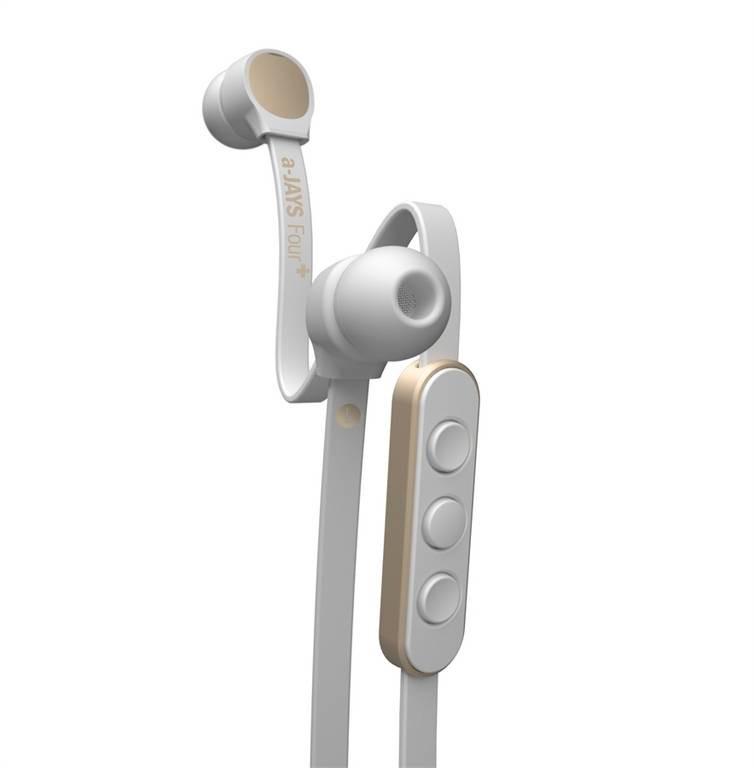 a-JAYS Four + iOS bílo zlatá sluchátka