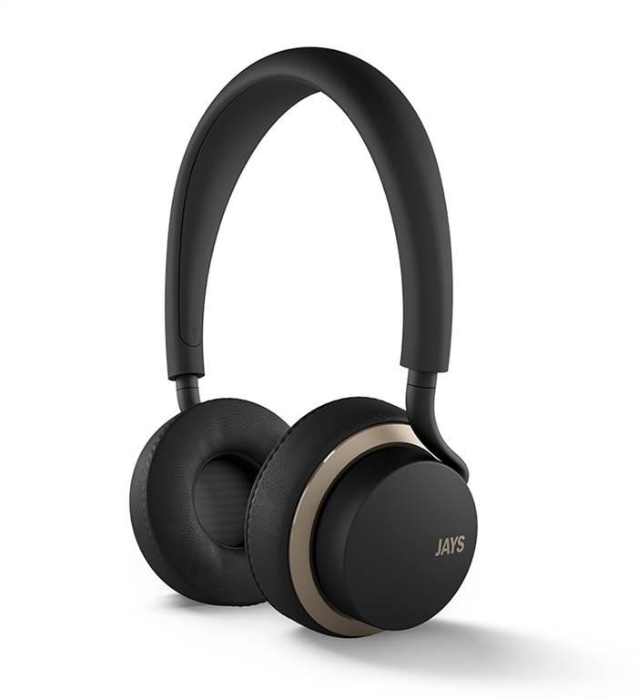 u-JAYS iOS černo zlatá sluchátka