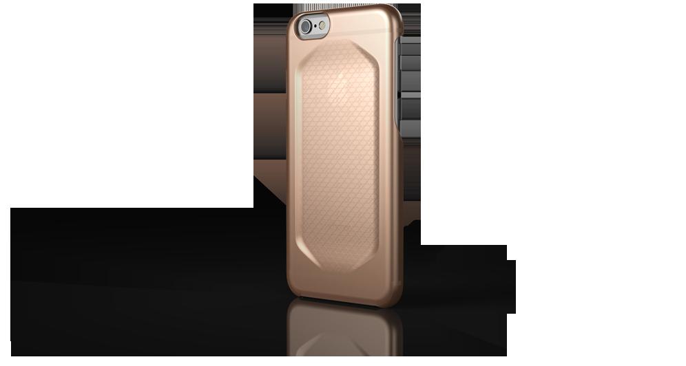 Qrono SEC, zlatý kryt pro iPhone 6/6s