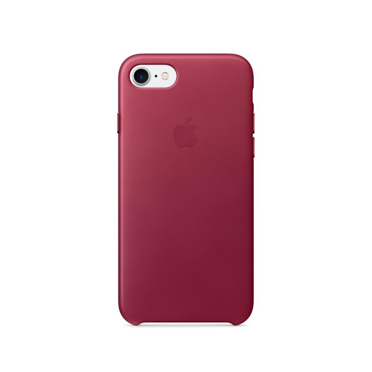 Apple kožený kryt na iPhone 7 – malinový