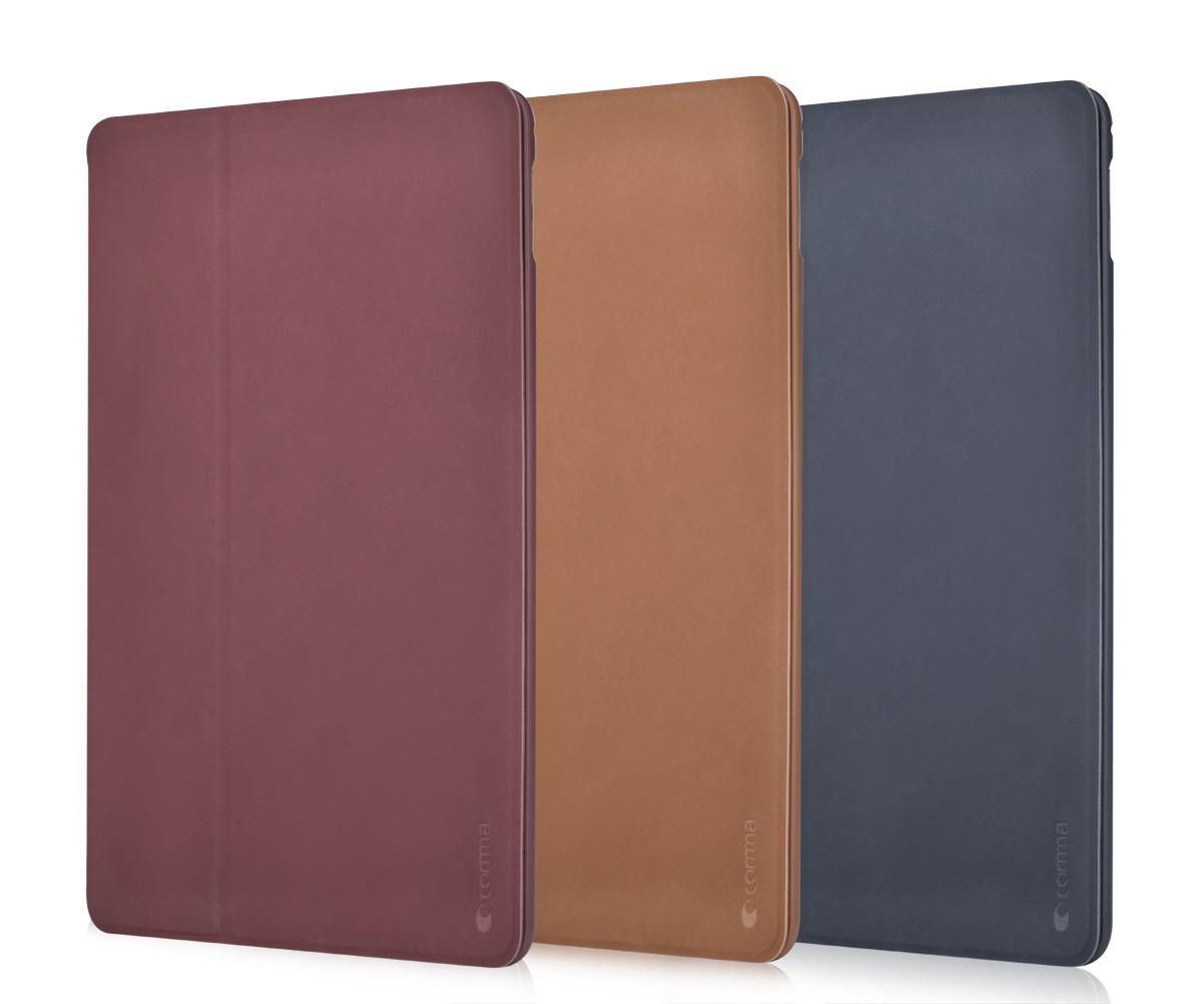 Comma Elegant Series, kožený kryt pro iPad, modrý