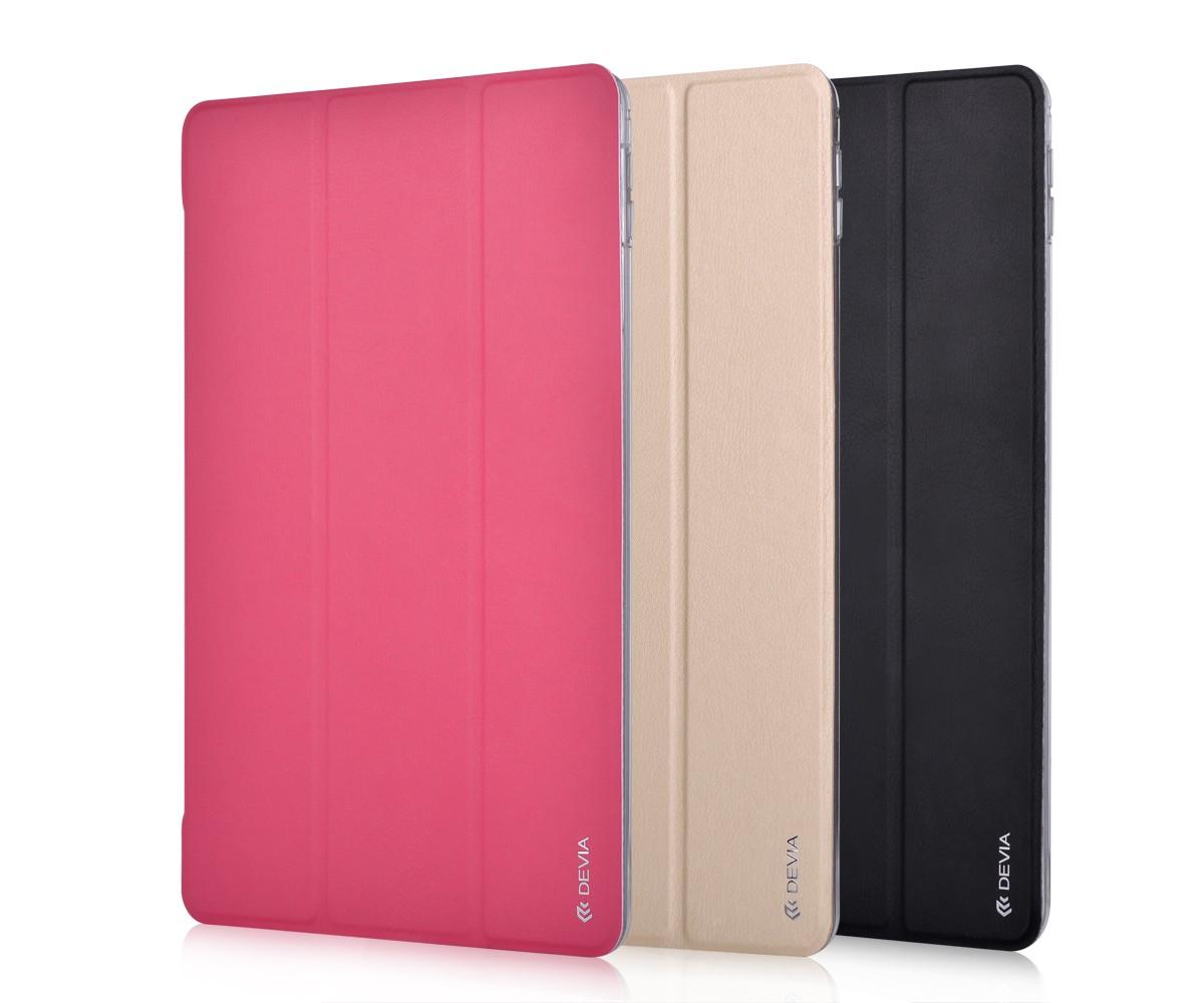 Devia Light Grace, kožený kryt pro iPad, černý