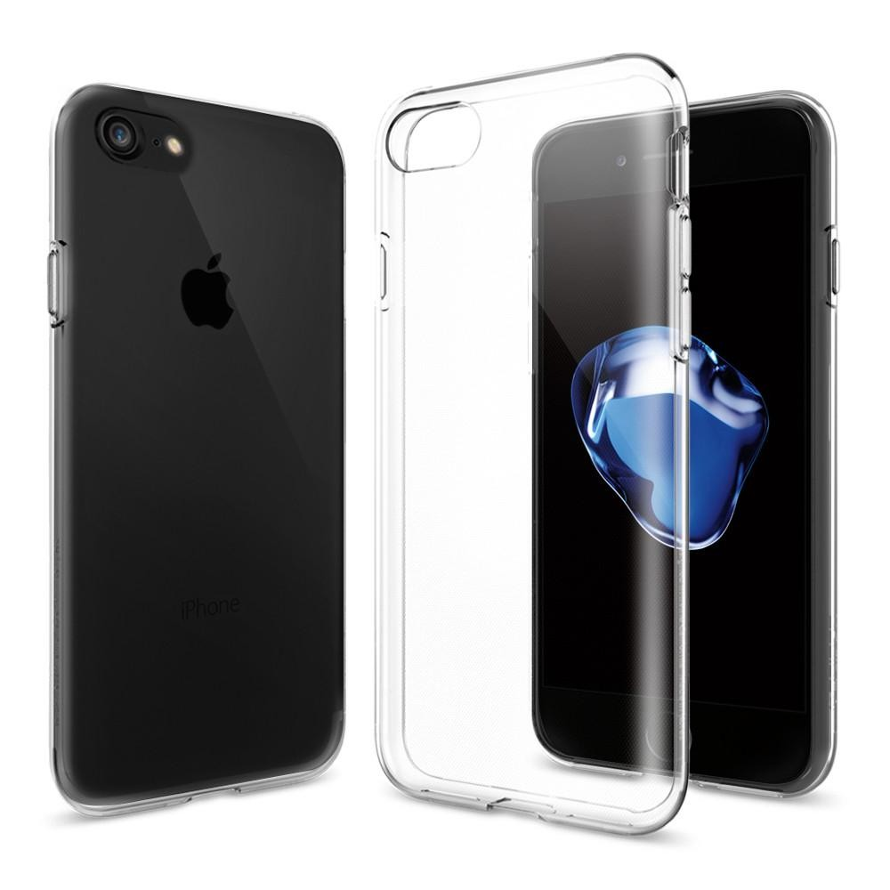 Spigen Liquid Crystal - kryt pro iPhone 7 - průhledný/šedý