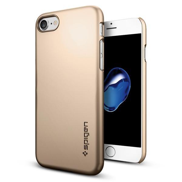 Spigen Thin Fit - ultra tenký kryt pro iPhone 7, zlatý