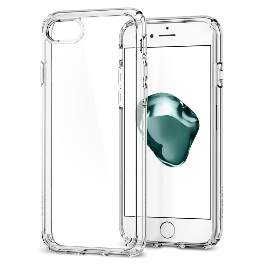 Kryt na iPhone 7 Spigen Ultra Hybrid 2 - průhledný