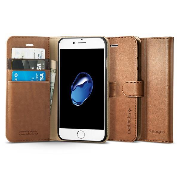 Spigen Wallet S pouzdro pro iPhone 7, hnědé