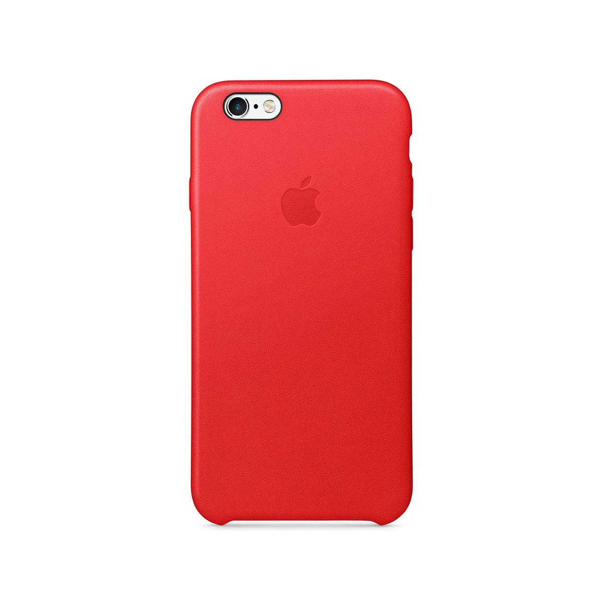 Apple kožený kryt na iPhone 6s - (PRODUCT)RED