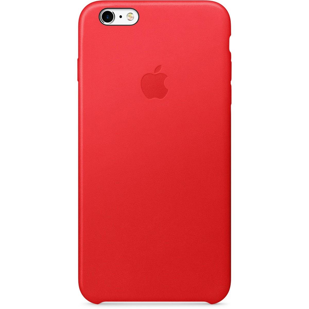 Apple kožený kryt na iPhone 6s Plus - (PRODUCT)RED
