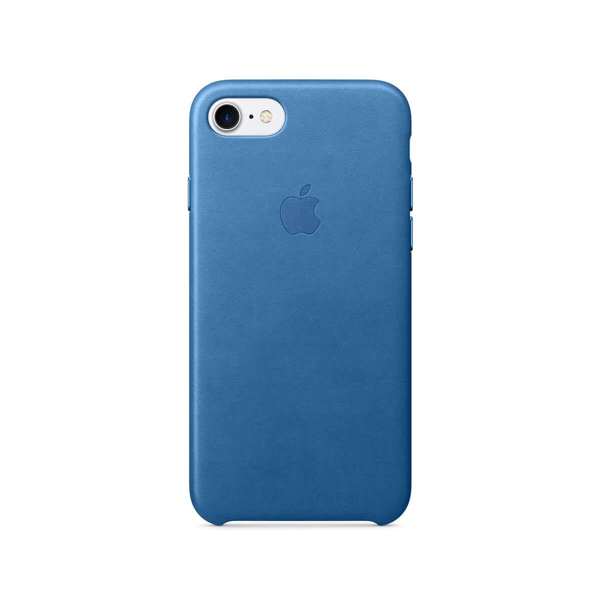 Apple kožený kryt na iPhone 7 – jezerně modrý