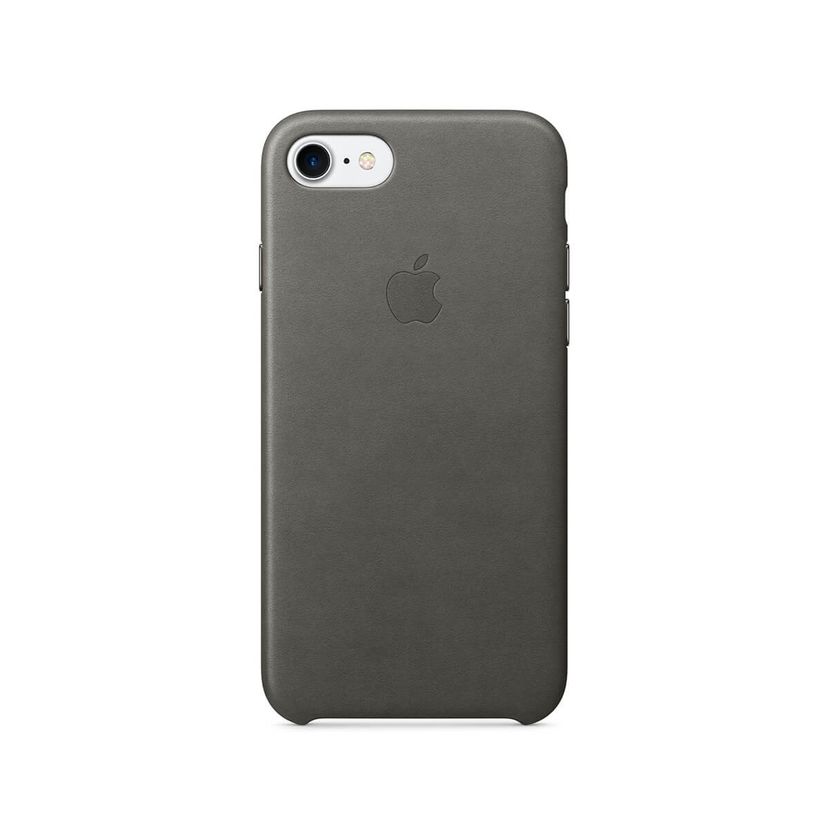 Apple kožený kryt na iPhone 7 – bouřkově šedý mmy12zm/a